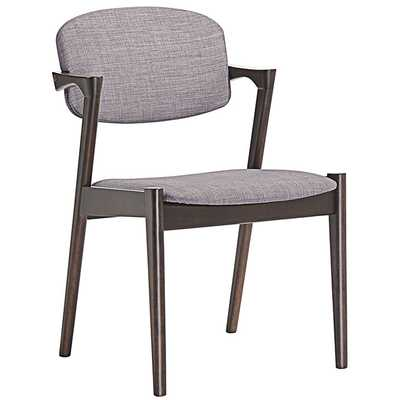 SPUNK DINING ARMCHAIR SET OF 2 IN WALNUT GRAY - Modway Furniture