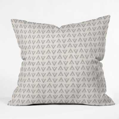"Grey arrows Throw Pillow - 20""x20"" With Insert - Wander Print Co."