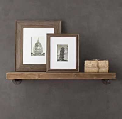 """Reclaimed Wood Wall Shelf - 52"""" - RH"""