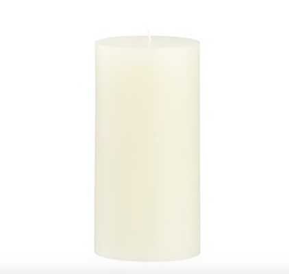Ivory Pillar Candle 3x6 - Crate and Barrel