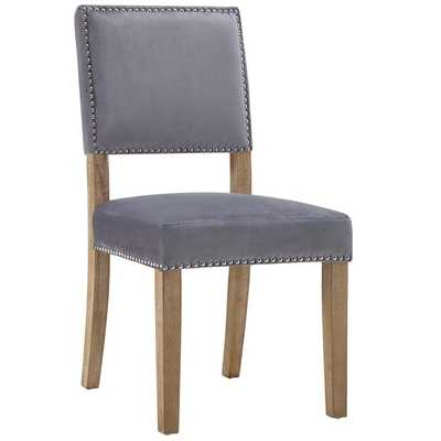 Oblige Wood Dining Chair in Gray - Modway Furniture