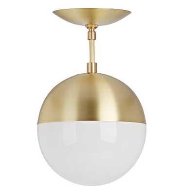 Cedar & Moss 8 inch Semi-Flush mount pendant - Brass - Rejuvenation