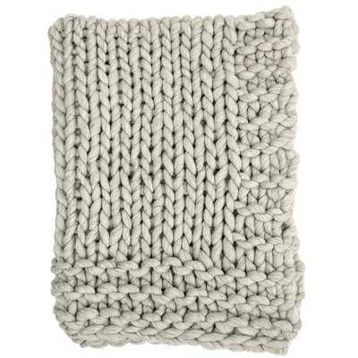 Clotilde Chunky Blend Knit Wool Throw - AllModern