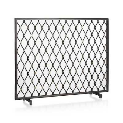 Corbett Fireplace Screen - Crate and Barrel
