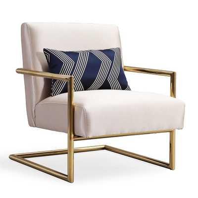 Lyla Beige Linen Chair - Maren Home