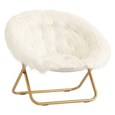 Ivory Himalayan Faux-Fur Hang-A-Round Chair - Pottery Barn Teen