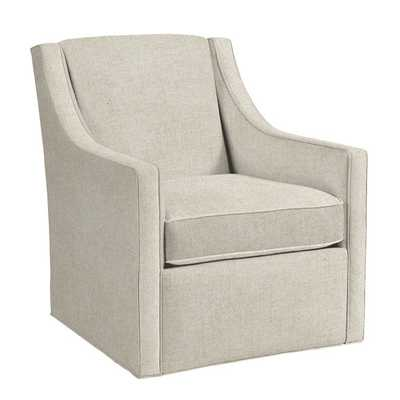 Carlyle Swivel Chair - Danish Linen Natural - Ballard Designs