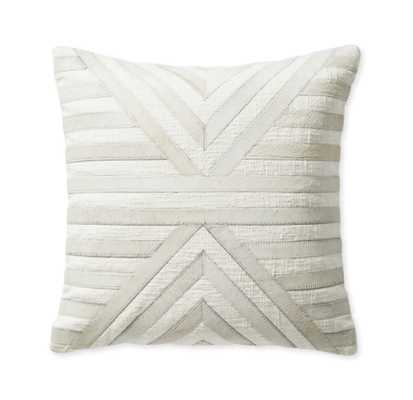 "Bolinas Hide Appliqué 20"" Pillow Cover - Serena and Lily"
