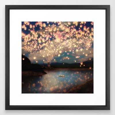 Love Wish Lanterns Framed Art Print - Society6