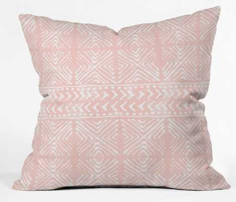 """stars above in coral"" throw pillow - Wander Print Co."