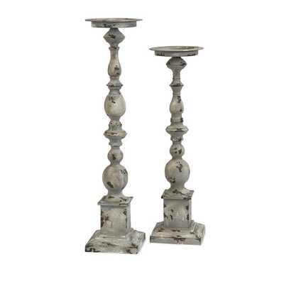 Hamilton Candleholders - Set of 2 - Mercer Collection