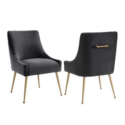 Skyler Morgan VELVET SIDE CHAIR - Maren Home