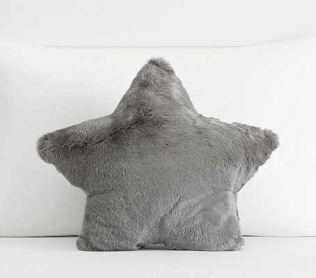 Fur Star Shaped Pillow, Gray - Pottery Barn Kids