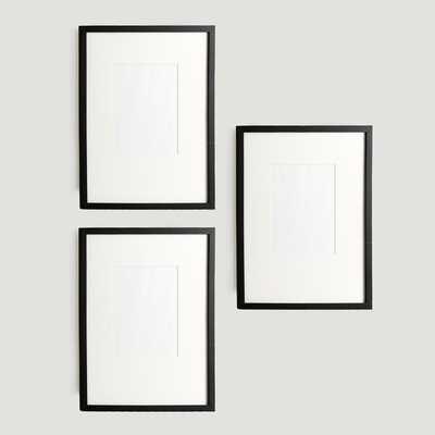 Gallery Frames - Black - set of 3 - West Elm