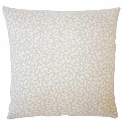 """Draven Nautical Pillow Sand 18 x 18"""" - Down Insert - Linen & Seam"""