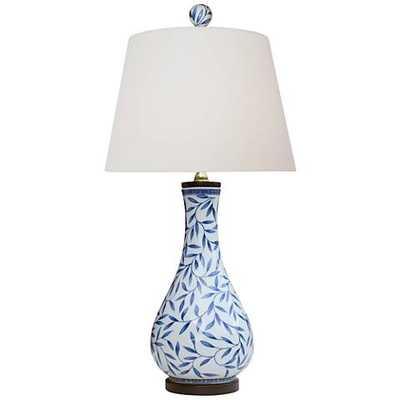 Yangtze Blue and White Porcelain Vase Table Lamp - Lamps Plus