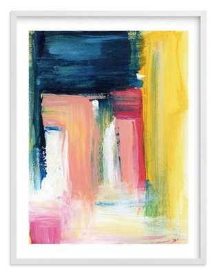 "Flags Wall Art - 30"" x 40"" - White Wood Frame w/ White Border - Minted"