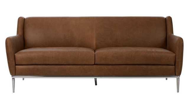 alfred saddle leather sofa - CB2