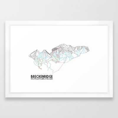 Breckenridge, CO - Minimalist Trail Map - Society6