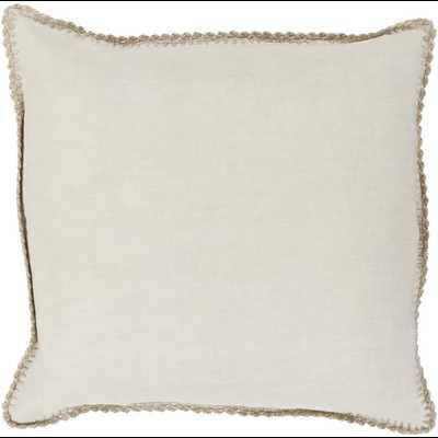 "Elsa 18"" x 18""  Pillow Shell with Down Insert - Neva Home"