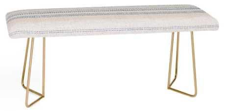 FRENCH LINEN STRIPE NAVY Bench - Wander Print Co.