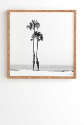 """TWO PALMS- 12""""x 12""""- Bamboo Frame - Wander Print Co."""