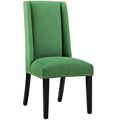 BARON FABRIC DINING CHAIR IN KELLY GREEN - Modway Furniture