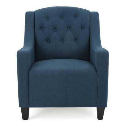 Decker Tufted Armchair / Dark Blue - Wayfair