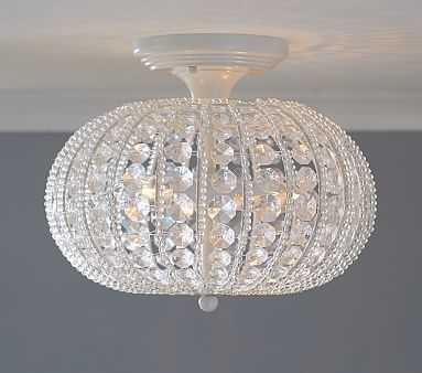 Clear Acrylic Round Flush Mount Chandelier - Pottery Barn Kids