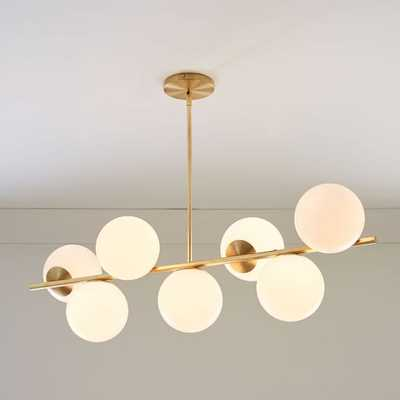 Sphere + Stem 7-Light Chandelier + Semi-Flushmount - West Elm