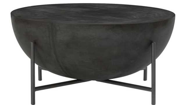 darbuka black coffee table - 34'' - CB2