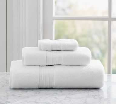 Hydrocotton Quick-Drying Bath Towel, White: BUNDLE SET of 6 - Pottery Barn