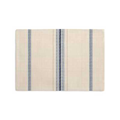 Placemats, Set of 4 - in Burlap of Luxury - Blueberry - Loom Decor