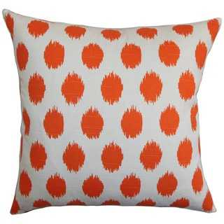 Kaintiba Ikat Pillow Orange - Linen & Seam