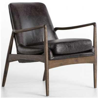 Braden Leather Chair, Durango Smoke - High Fashion Home
