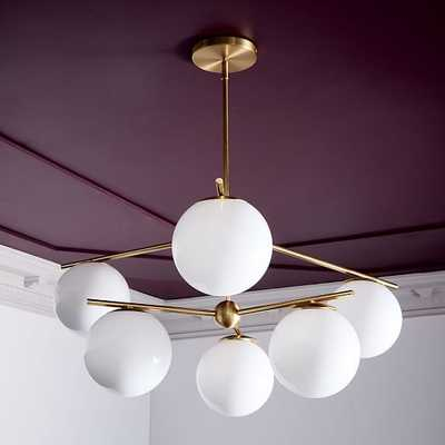 Sphere + Stem 6-Light Chandelier + Flushmount - West Elm