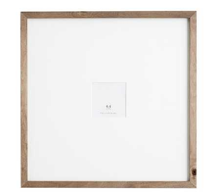 "WOOD GALLERY OVERSIZED MAT FRAMES - 4"" x 4"" - Pottery Barn"