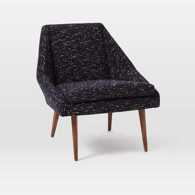 Parker Leather Slipper Chair, Indigo - West Elm