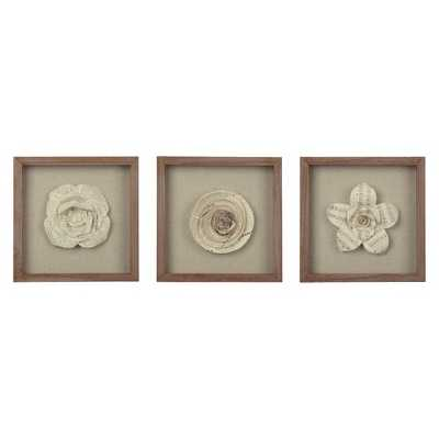 Framed Paper Flower 11x11 - Set of 3 - Threshold - Target