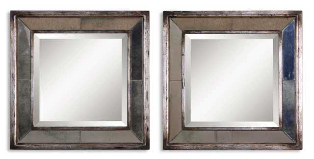 Davion Square Mirrors - Set of 2 - Hudsonhill Foundry