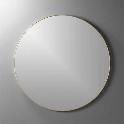 """infinity 36"""" round wall mirror""-Brass - CB2"