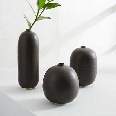 Judy Jackson Bottle Vase, Set of 3, Small, Black - West Elm