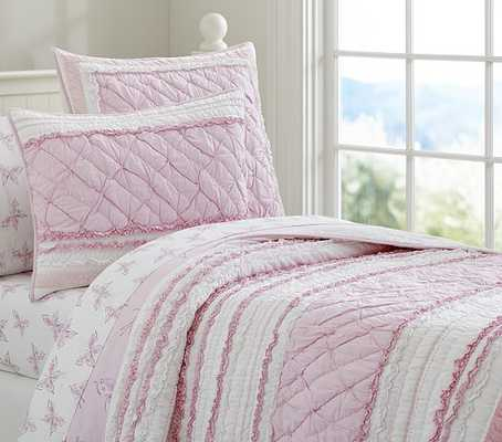 Brigette Ruffle Quilt - Twin - Pottery Barn Kids