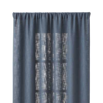 "Lindstrom Blue 48""x84"" Curtain Panel - Crate and Barrel"