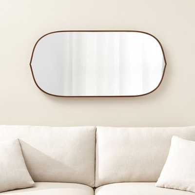 Penarth Walnut Oval Wall Mirror - Crate and Barrel