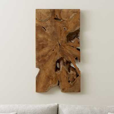 Slice Teak Wall Art - Crate and Barrel