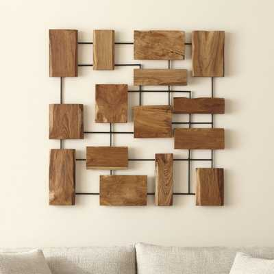 Marcel Teak Wall Art - Crate and Barrel