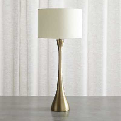 Melrose Brass Table Lamp - Crate and Barrel