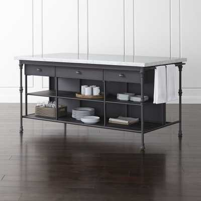 """French Kitchen 72"""" Large Kitchen Island - Crate and Barrel"""