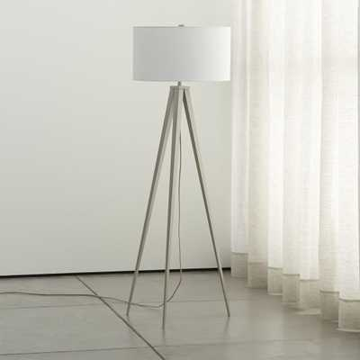 Theo Grey Floor Lamp - Crate and Barrel